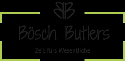 Logo von Bösch Butlers GmbH, welche Sie entlastet und Ihnen mehr Zeit ermöglicht